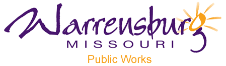 City of Warrensburg Public Works Sign